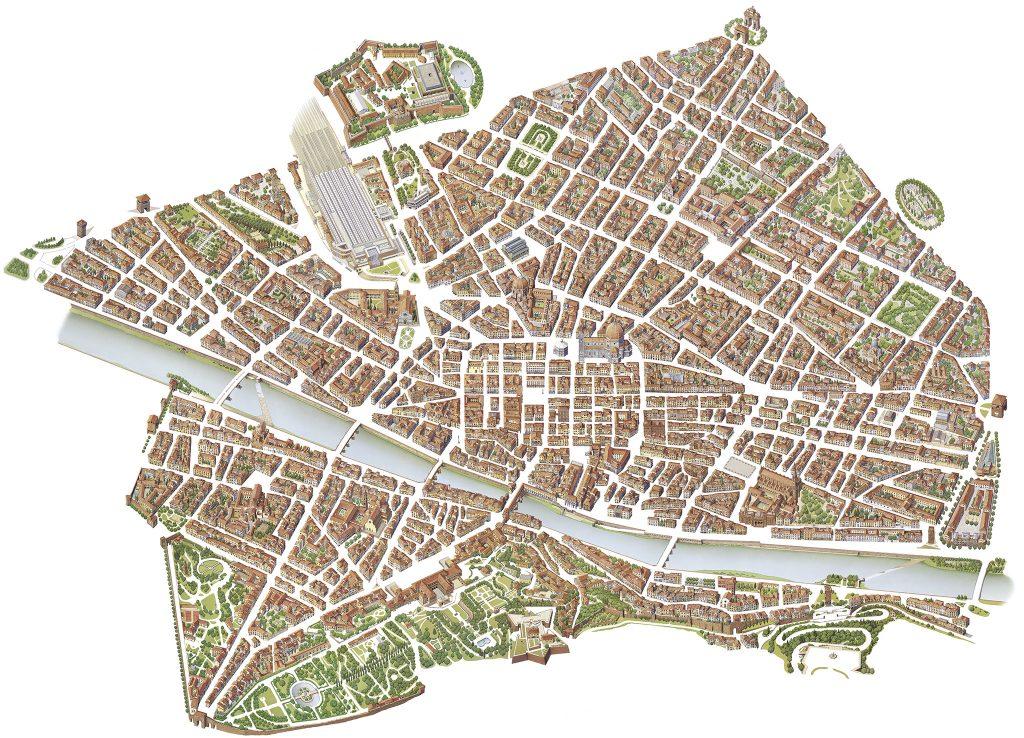 Mappa Monumentale di Firenze 4