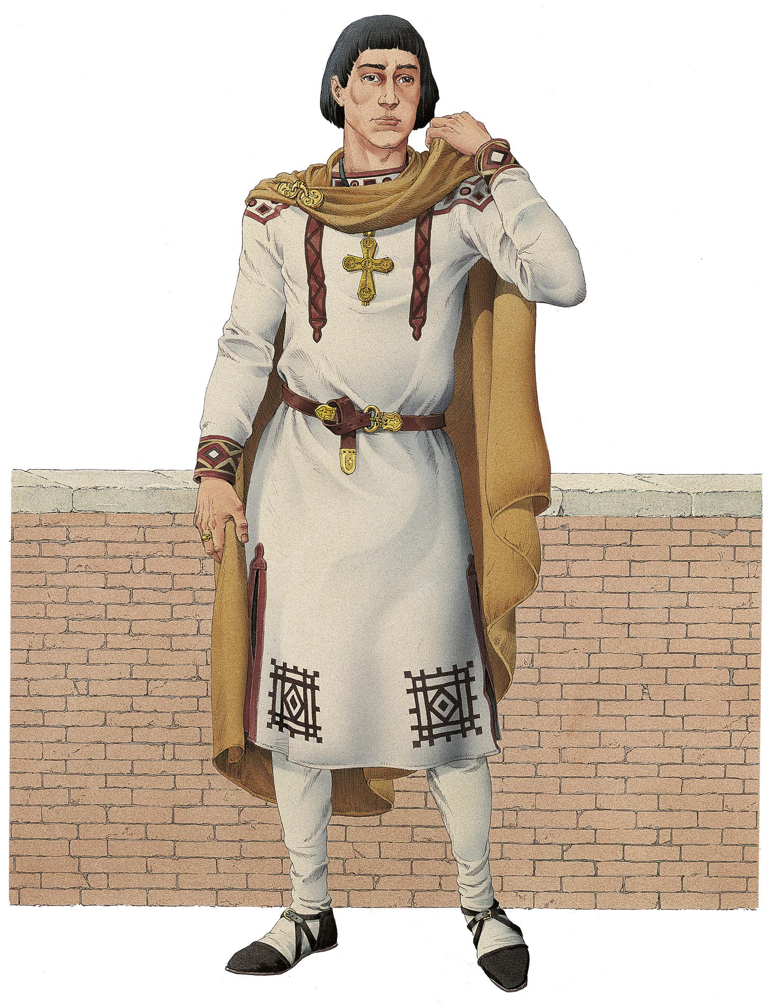 INKLINK_illustrazione_Cripta-Balbi-abbigliamento-maschile-romano-del-VII-secolo