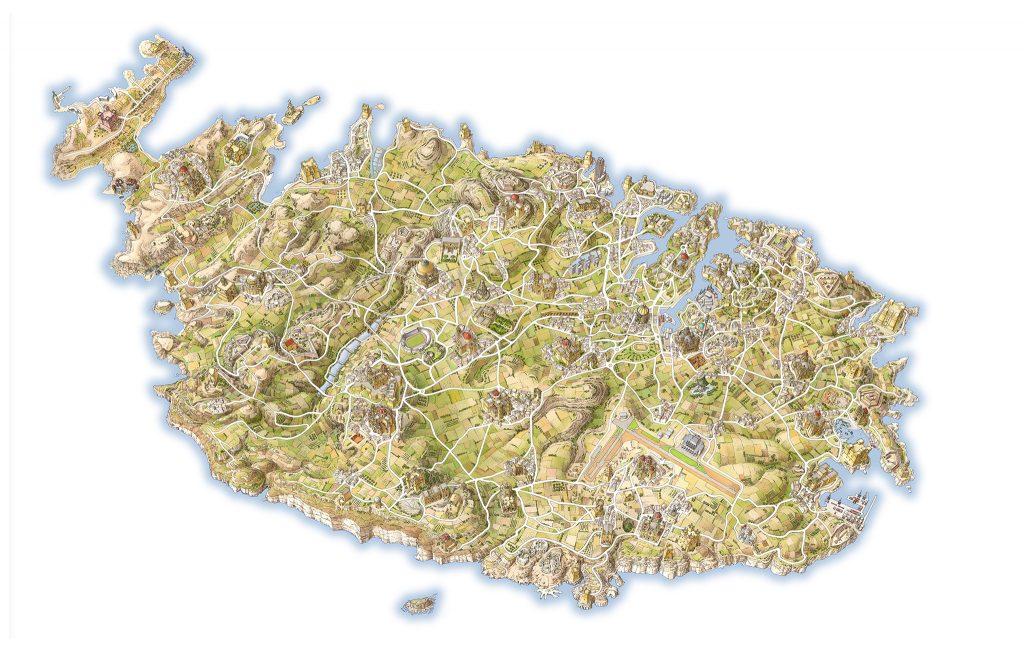 INKLINK_illustrazione_mappa_Malta