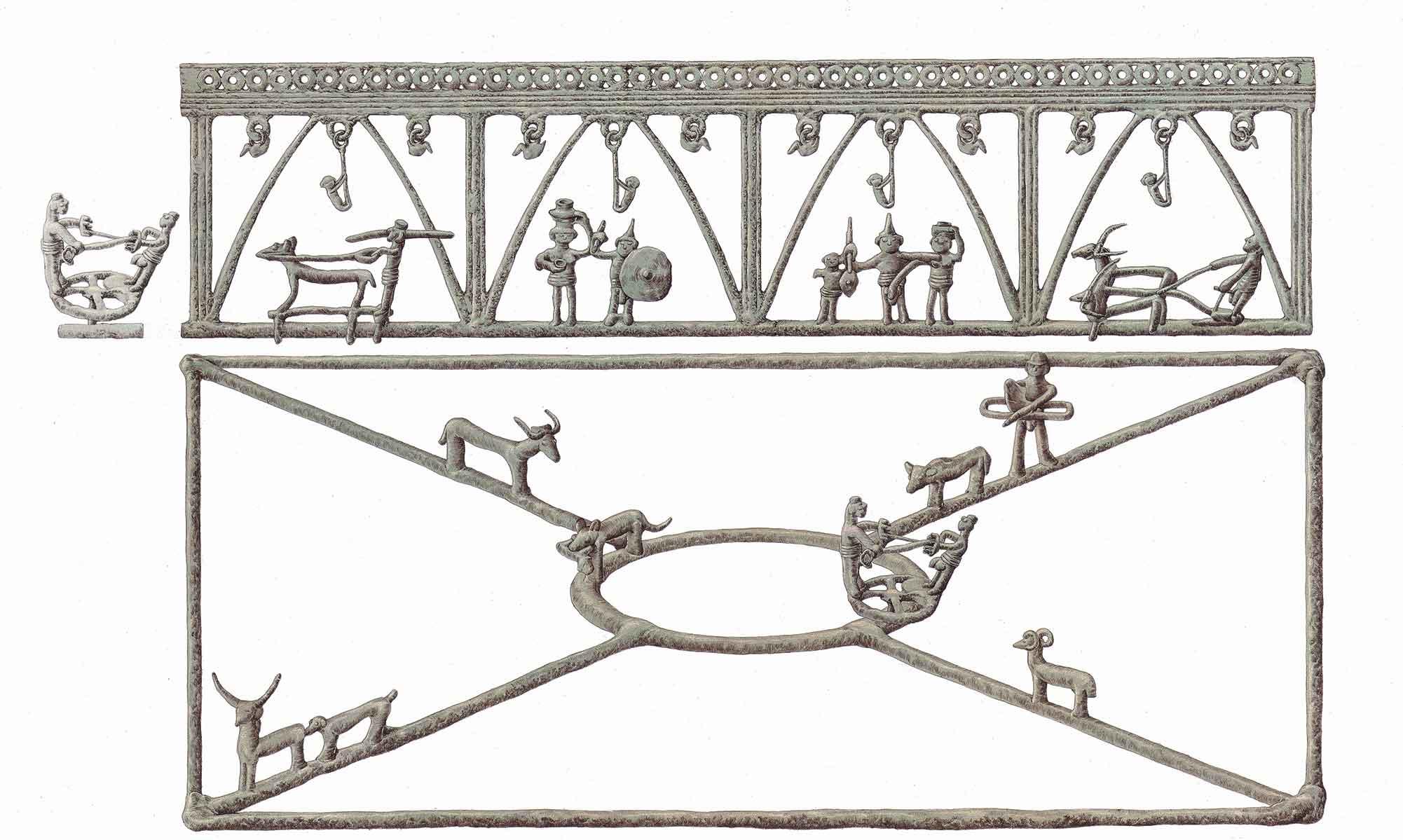 Carrello-cerimoniale-da-BisenzioRito-dellaratura-e-la-costruzione-delle-mura-palatine-inklink-musei-simone-boni